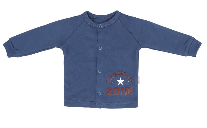 Mamatti Novozenecká bavlněná košilka, kabátek Chameleon - granátová, vel. 74