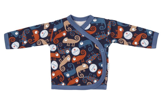 Mamatti Novozenecká bavlněná košilka zapínání bokem, Chameleon - granátová, vel. 56