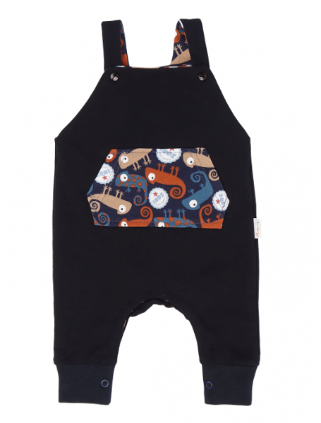 Mamatti Dětské láclové kalhoty Chameleon - černé