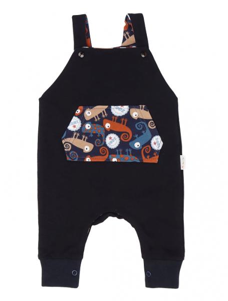 Mamatti Dětské láclové kalhoty Chameleon - černé, vel. 74
