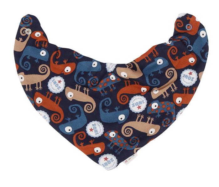 Mamatti Dětský šátek na krk Chameleon - granátový s potiskem