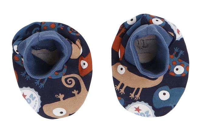 Mamatti Kojenecké botičky, ponožtičky Chameleon - granátové s potiskem