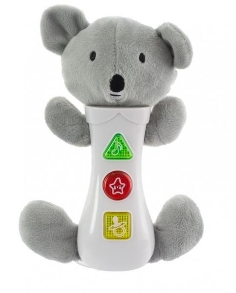 Euro Baby Hračka se zvuky na baterie pro nejmenší - koala, šedá