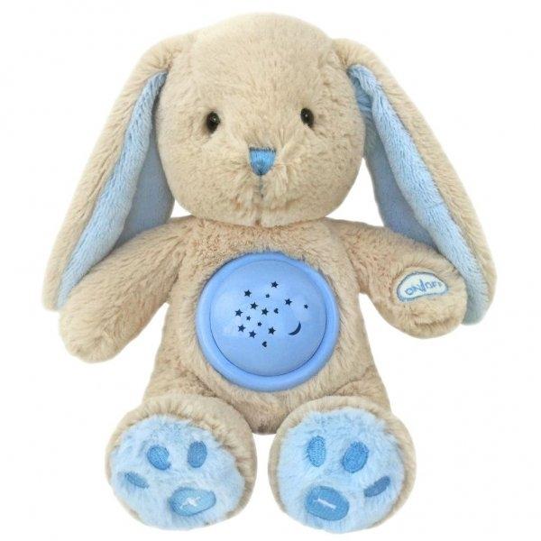 Plyšový králiček s projektorem Baby Mix - modrý