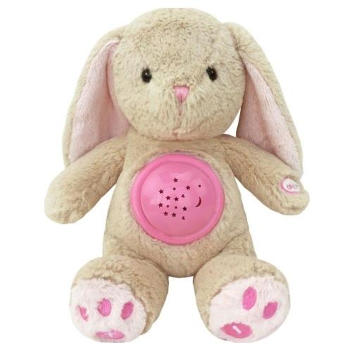 Plyšový králiček s projektorem Baby Mix - růžový