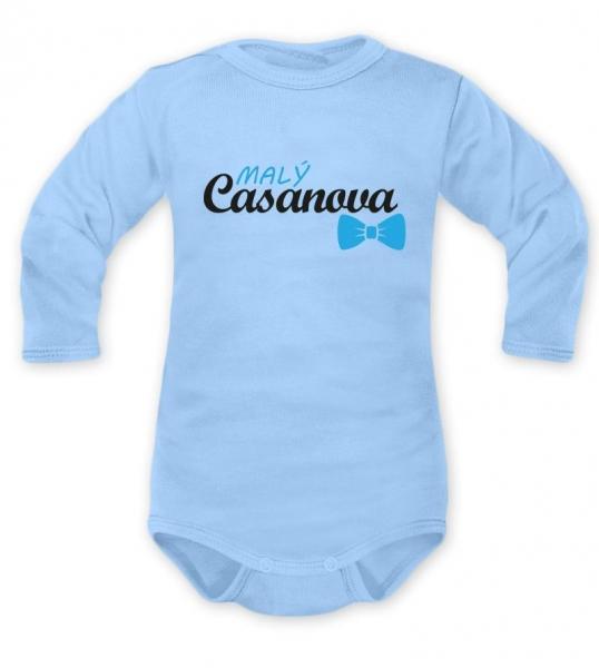Body dlouhý rukáv Dejna, Malý Casanova, modré