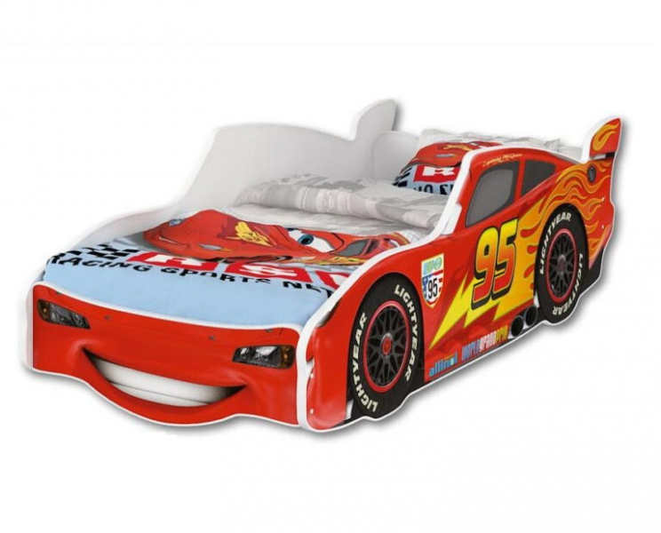 Nellys Dětská postel Super Car McQueen 160 x 80 cm