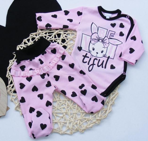 G-baby 2-dílná kojenecká sada Králíček - růžová