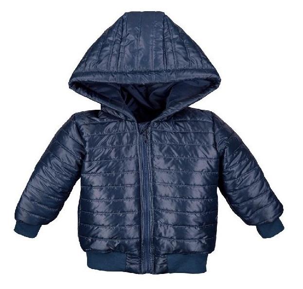 EEVI Dětská přechodová, prošívaná bunda s kapucí - granátová, vel. 104