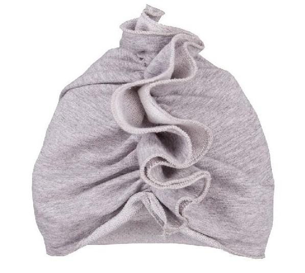 EEVI Dětská jarní/podzimní bavlněná čepice - turban, šedá, 44-48 cm, 3-7let