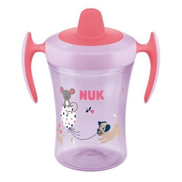 Nekapající hrneček NUK Trainer Cup Pejsek 230 ml - růžový