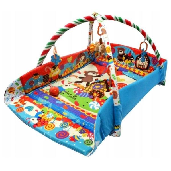 BABY MIX Vzdělávací hrací deka - Sladkosti