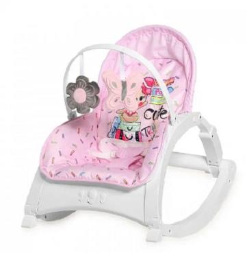 Lorelli Lehátko, houpačka pro kojence Enjoy - Pink Travelling