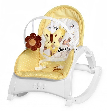 Lorelli Lehátko, houpačka pro kojence Enjoy - Yellow Giraffe