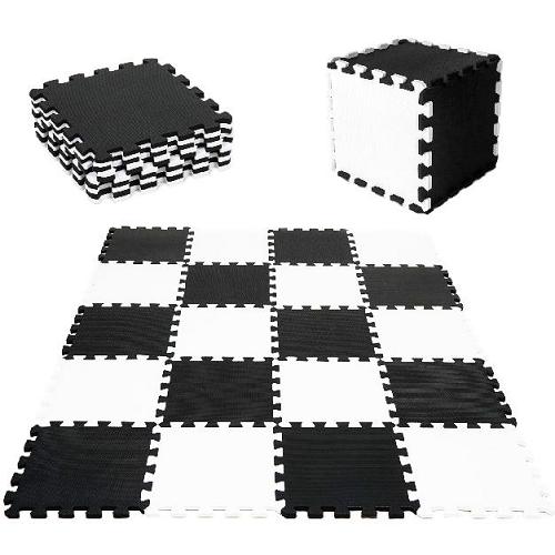 Tulimi Dětské pěnové puzzle 30x30cm, hrací deka, podložka na zem