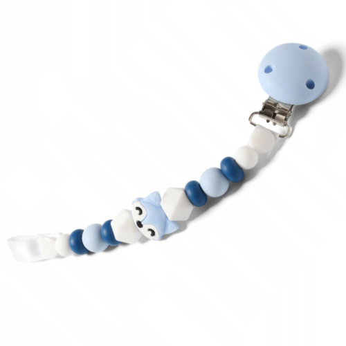 BabyOno Řetízek na dudlík Natural Nursing - Liška modrá