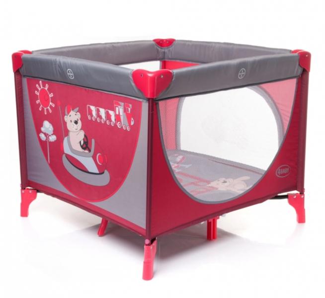 4 Baby Skládací ohrádka Colorado - červená