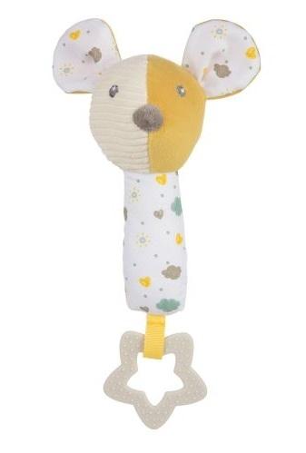 Canpol babies Plyšová hračka s kousátkem a pískátkem - Myška
