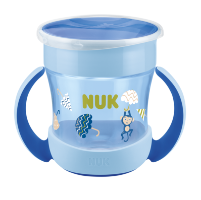 Hrneček NUK Mini Magic Cup s úchyty - Opička, 160 ml,  6m+