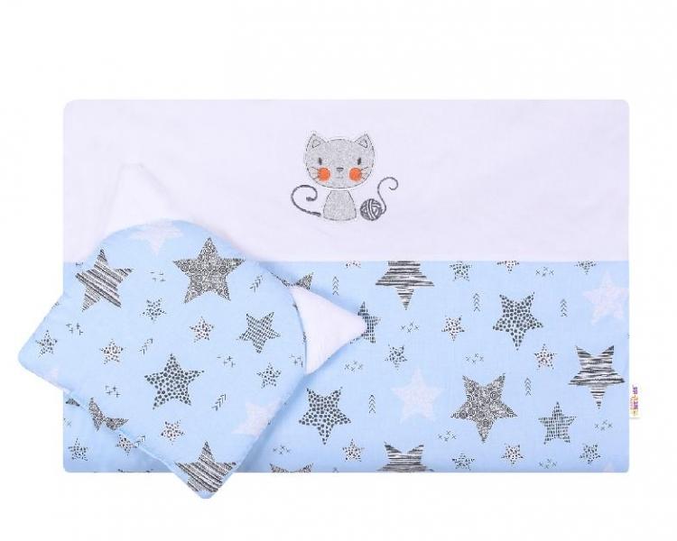 Dětská sada do kočárku Baby Nellys ® STARMIX, modro-bílá