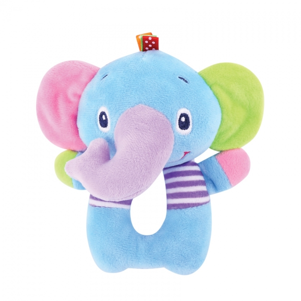 Lorelli Plyšové chrastítko - Slon, modrý
