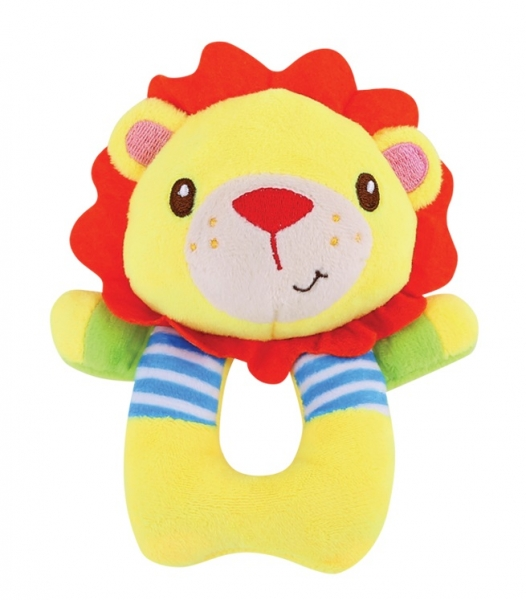 Lorelli Plyšové chrastítko - Lev, žlutý