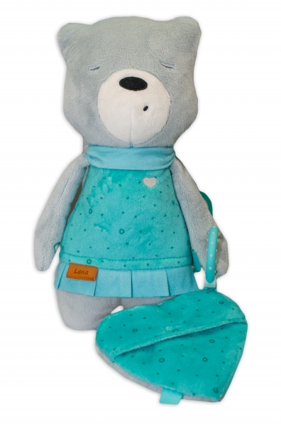 Szumisie Šumící mazlíček Medvídek Lena s aplikací 31 cm