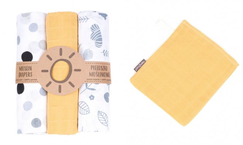 Mamo Tato Mušelínové plenky 3ks + žínka zdarma - vzor 18