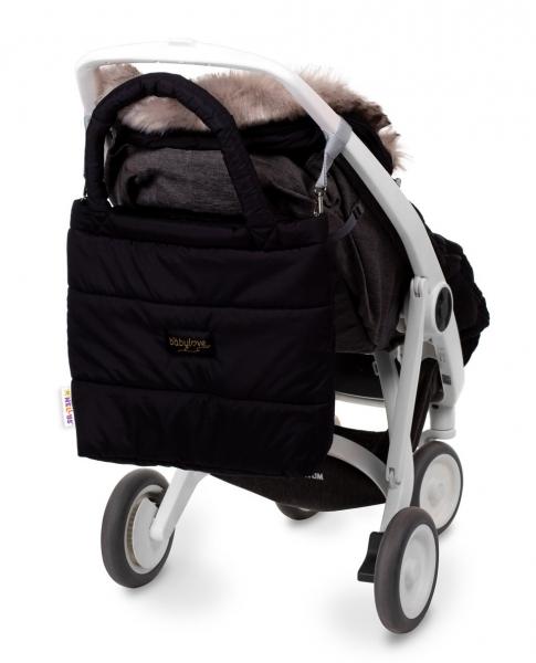 Baby Nellys taška na kočárek STYLE, černá