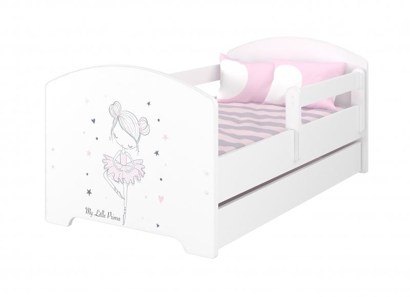 BabyBoo Dětská postel 140 x 70cm -  Baletka - včetně šuplíku