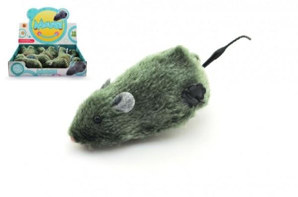 Myš na klíček plast/plyš 12cm 12ks v boxu