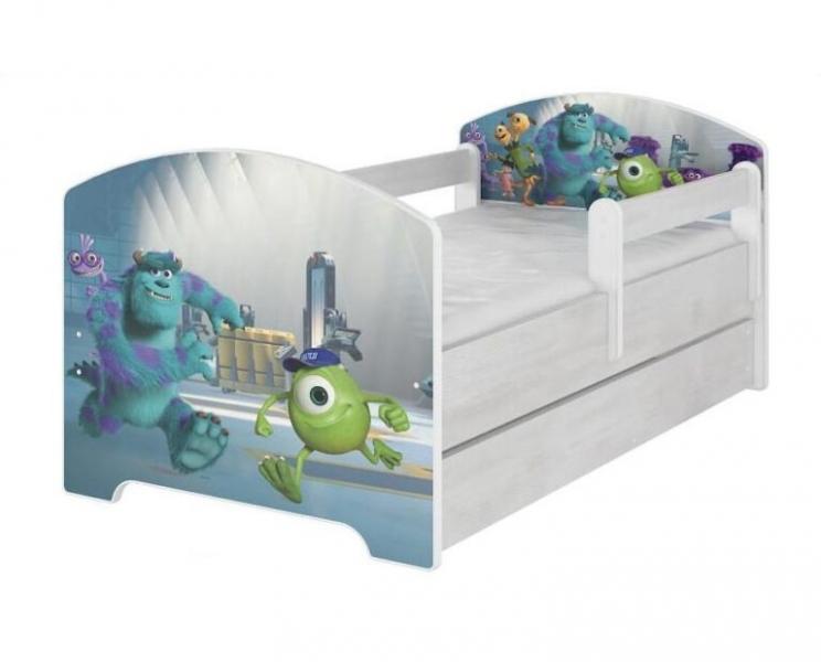 BabyBoo Dětská postel 140 x 70cm -  Monsters