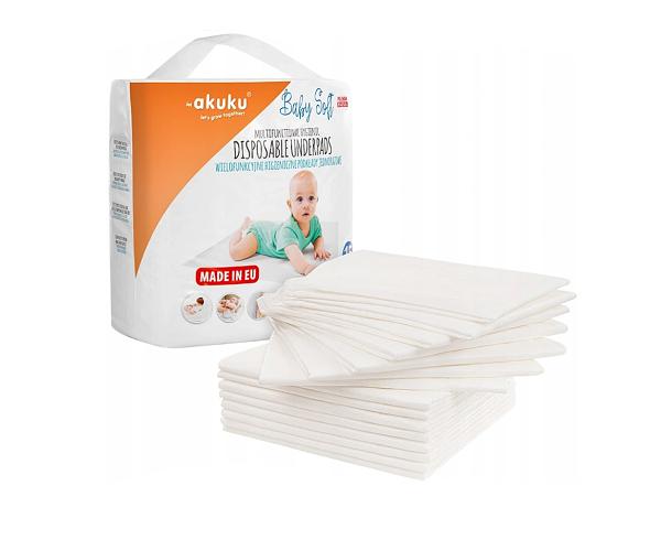 Jednorázové hygienické podložky Akuku Baby Soft - 15ks