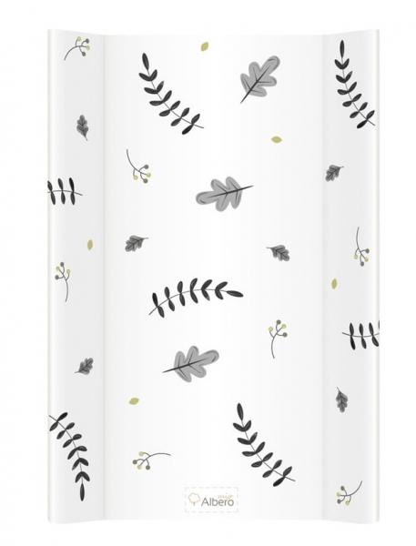 Albero Mio Přebalovací podložka - měkká, Les, bílý, 48x70 cm