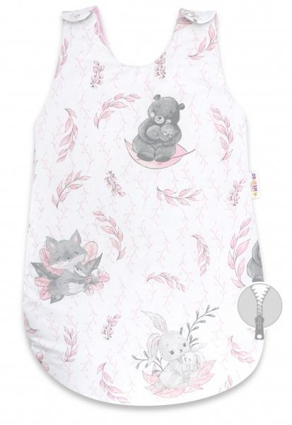 Spací vak Baby Nellys, Lulu natural, 74 cm - růžový
