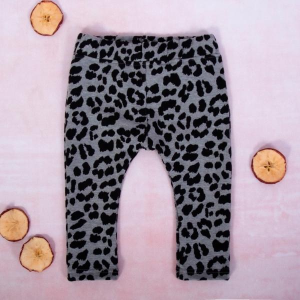 K-Baby Dívčí legíny Gepardík, šedo-černá, vel. 80, Velikost: 80 (9-12m)