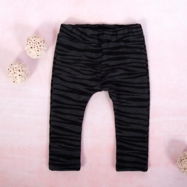 K-Baby Dívčí legíny Tygřík, grafit-černá, vel. 80, Velikost: 80 (9-12m)