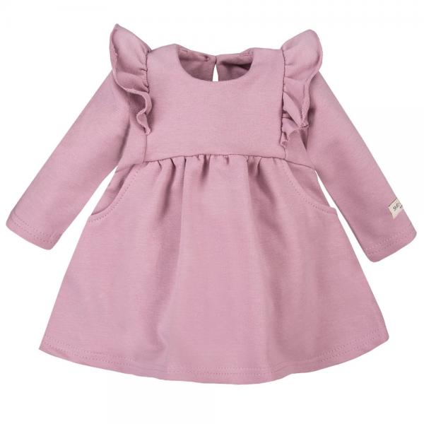EEVI Dívčí šaty s volánky - fialové, vel. 80
