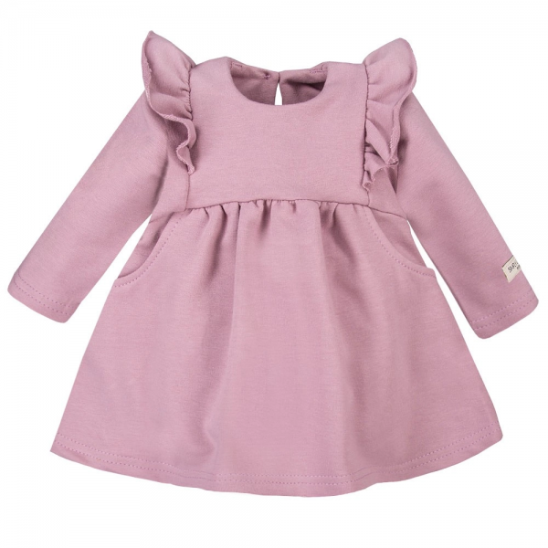 EEVI Dívčí šaty s volánky - fialové, vel. 104