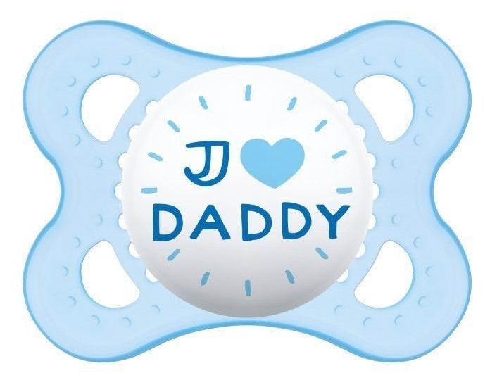 MAM Ortodontický silikonový dudlík Love&Affection Daddy Boy , 2-6m+