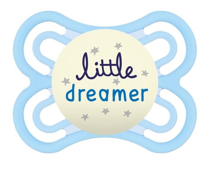 MAM Symetrický dudlík Perfect Night Boy, svítící - Little dreamer, modrá, 0m +
