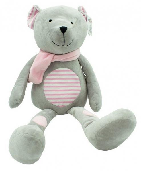Plyšová hračka Tulilo Medvídek Erik, 19 cm - růžový s proužky