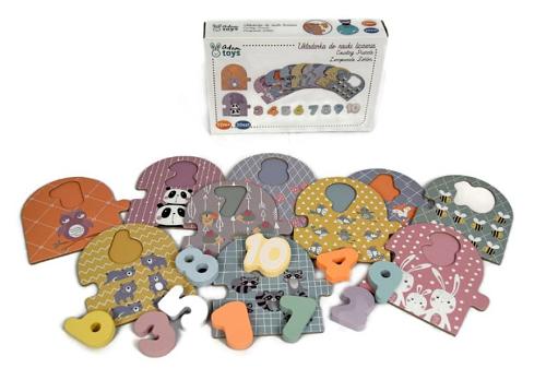 Adam Toys Naučné dřevěné puzzle - počítání