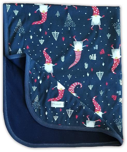 Mamatti Dětská oboustranná bavlněná deka, Christmas - 80 x 90 cm, granát/granát se vzorem