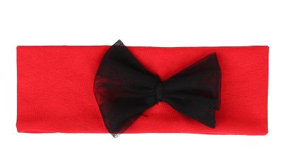 Mamatti Dětská čelenka s mašlí - červená