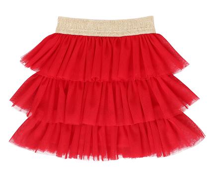 Mamatti Dětská tylová sukně - červená, vel. 104/110