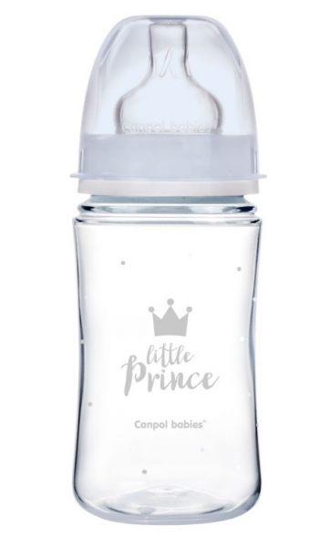 Antikoliková lahvička 240ml Canpol Babies - Little Prince