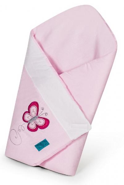 Belisima Zavinovačka s kokosovou vložkou - Motýlek s puntíky - růžová
