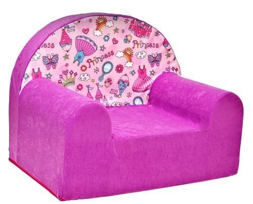 Dětské křesílko/pohovečka Nellys ® - Princess, růžová
