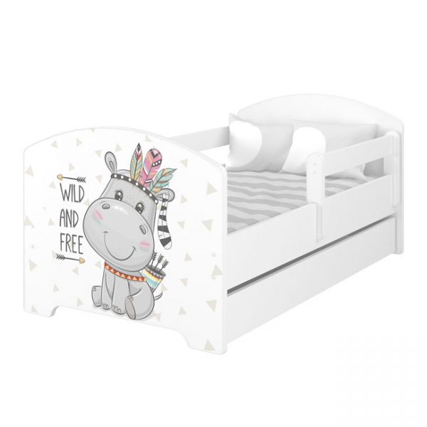 BabyBoo Dětská postel 140 x 70cm -  Hippo